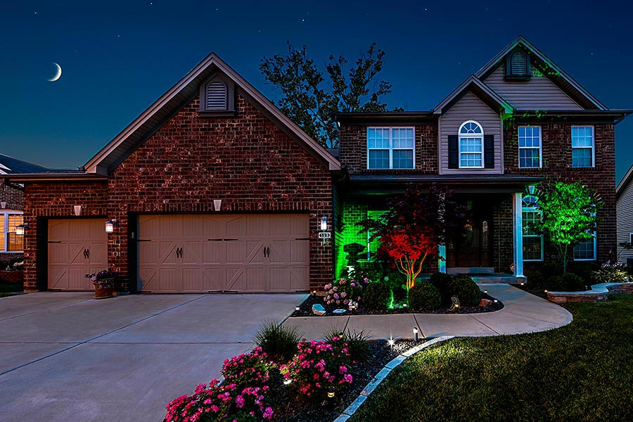 outdoor LED landscape lighting ideas - LED spotlights