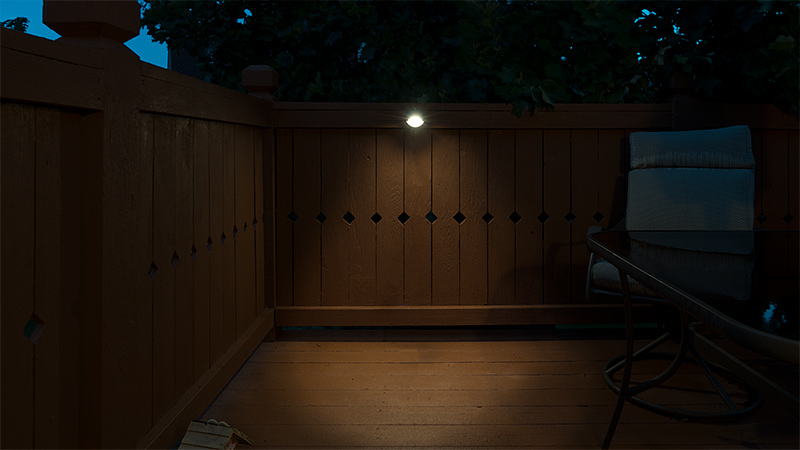 outdoor LED landscape lighting ideas - LED deck eyelid light