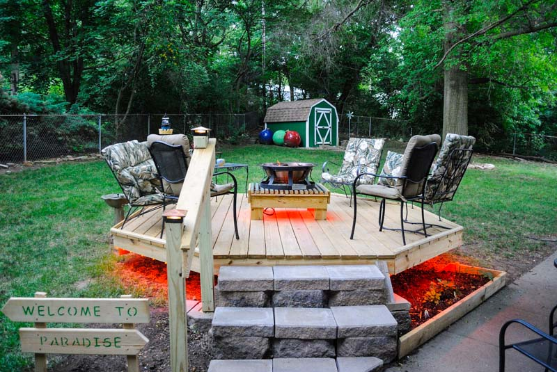 outdoor LED landscape lighting ideas - led deck lights