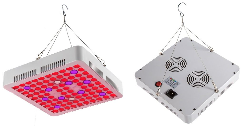 5-band full spectrum LED Grow Light - square 65W