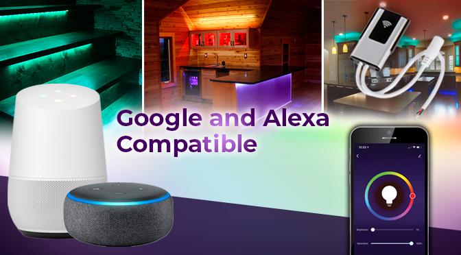 Alexa/Google Wifi LED Strip Light Controllers