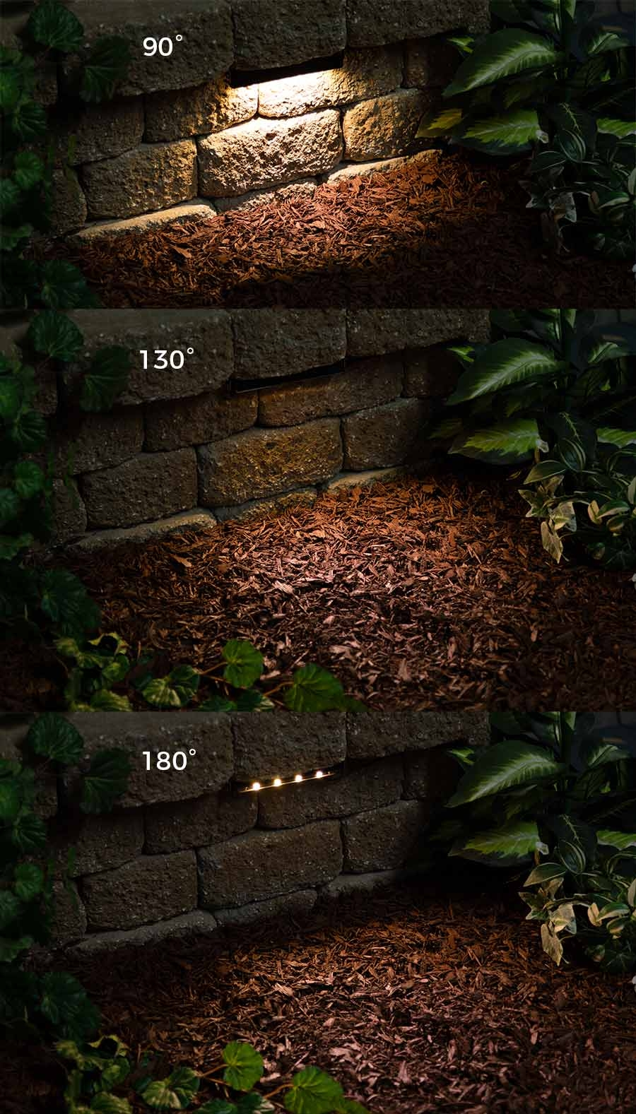 LED hardscape lights - aimable positions