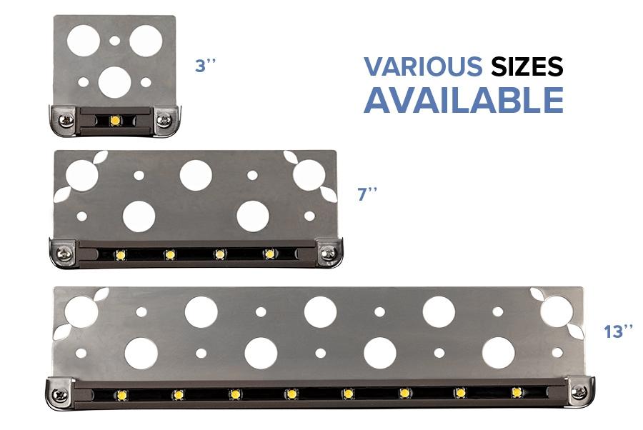 LED hardscape lights - fixed - sizes