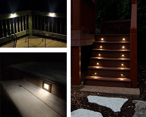 Landscape Lighting Design - deck step lights