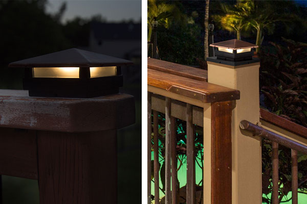 Landscape Lighting Design - deck fence post light