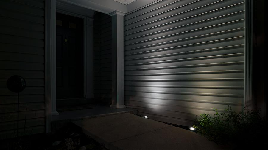 Landscape Lighting Design - well lights on house