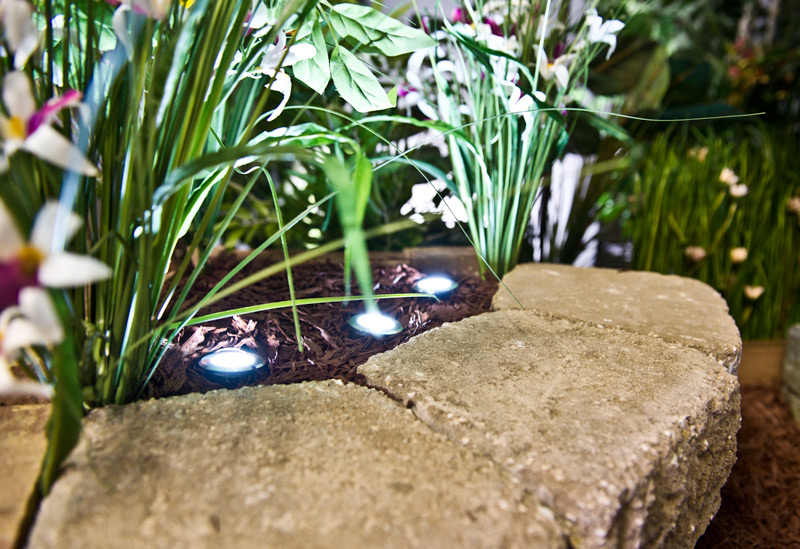 Landscape Lighting Design - well lights in garden