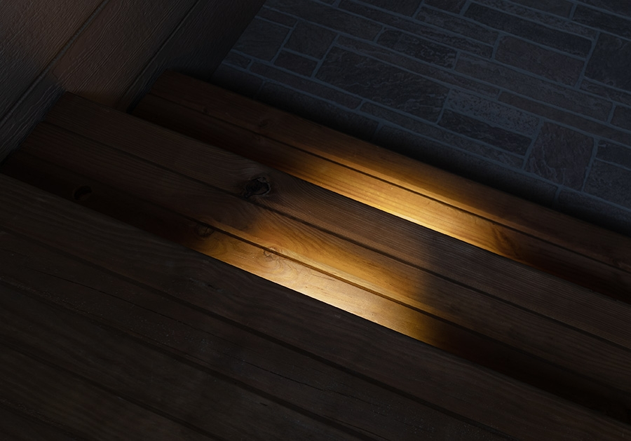 Landscape Lighting Design - linear deck step light