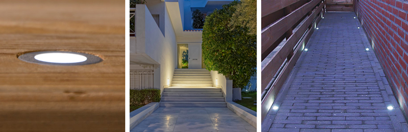 Landscape Lighting Design - step lights for vertical paths