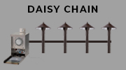 LED landscape lighting planning - daisy chain wiring