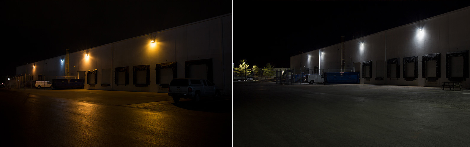 CCA LED parking lot lights project - wall pack