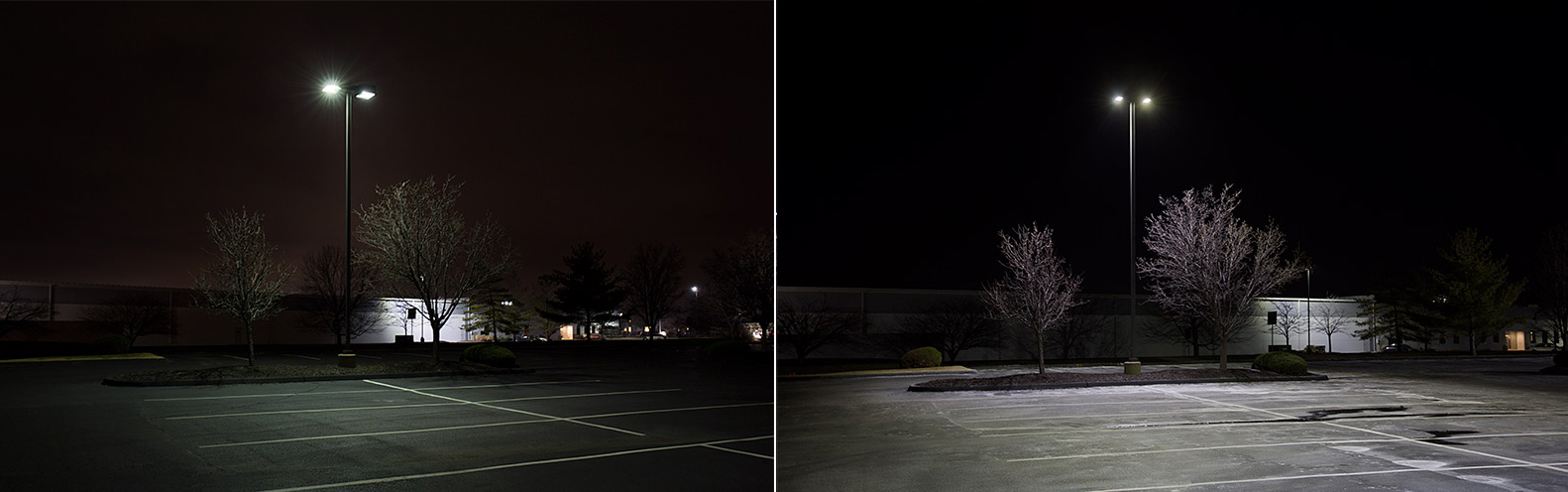 CCA LED parking lot lights project - shoebox