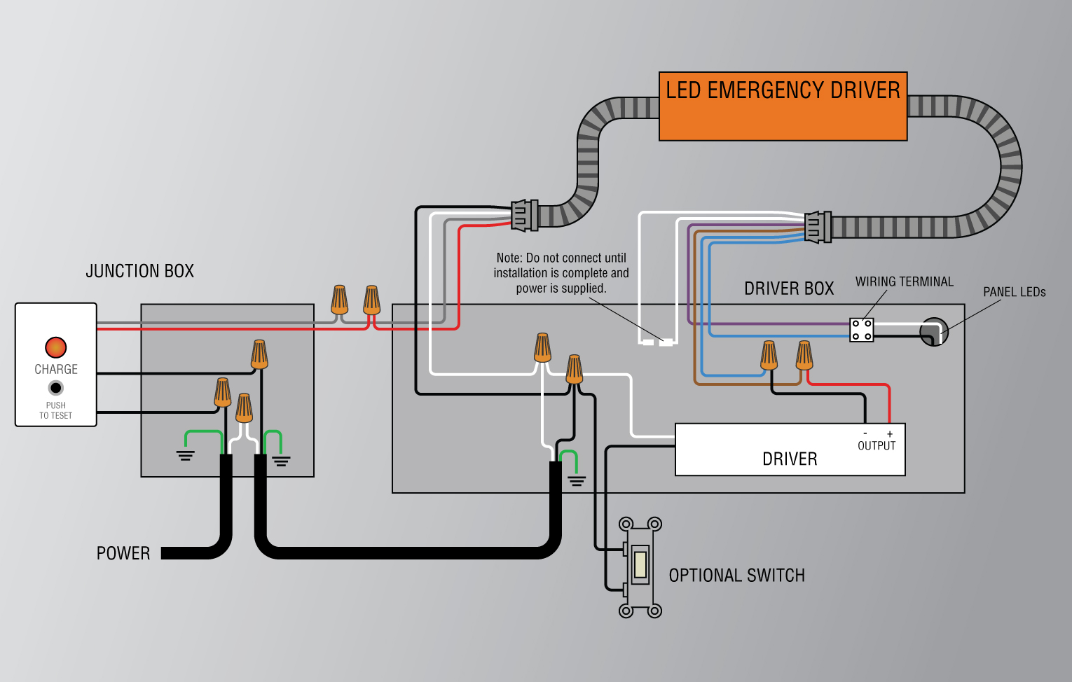 (View enlarged version of typical EL-2548-XXU wiring diagram)