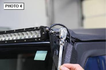 97-2006 jeep tj wrangler led light bar steel a-pillar led ... wiring diagram 2000 jeep wrangler sport