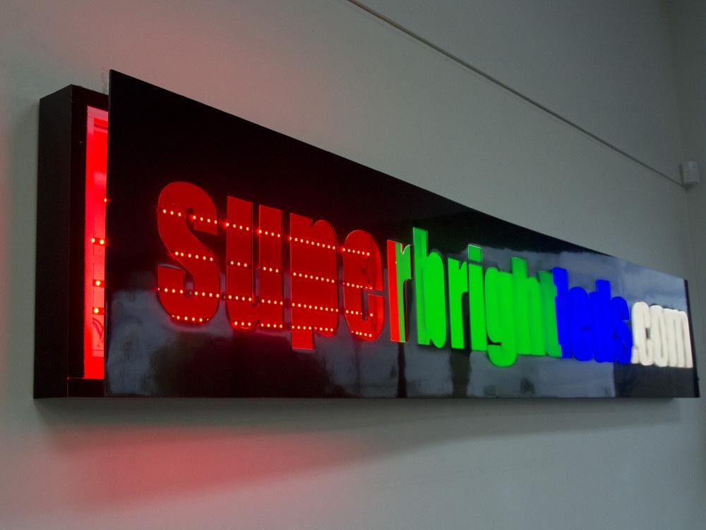 sign lighting led lighting ideas. Black Bedroom Furniture Sets. Home Design Ideas