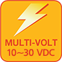 The MRF-x3 has an operating voltage range of 10~30 VDC