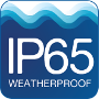 PT-x10 is Weatherproof IP65 rated