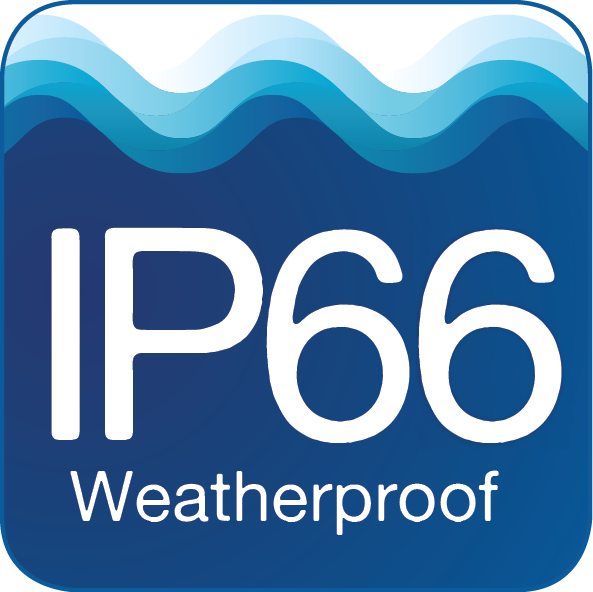 PLLD-x300-KM is Weatherproof IP66 rated