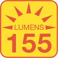 PLOS-WW3x outputs up to 155 lumens