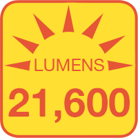 4NFLS-xH2160-24V outputs up to 21600 lumens