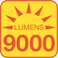 LS-CP100W outputs up to 9000 lumens