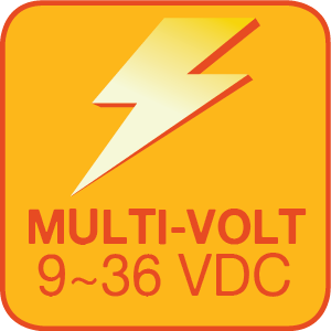 The 9006-HLV2-M has an operating voltage range of 9~36 VDC