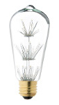 ST18 Decorative Fireworks LED Bulb - 15 Watt Equivalent - Warm White
