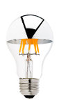 Silver Tipped LED Filament Bulb - 40 Watt Equivalent - Ultra Warm White