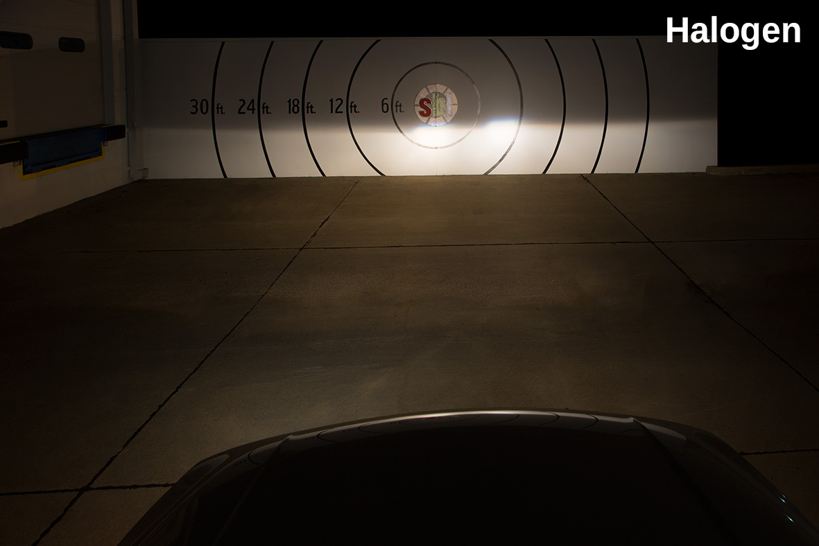 Halogen Headlights - LED Vs Halogen Comparison Photo
