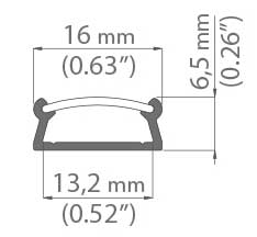 B5390ANODA/Frosted Cover Dimensions