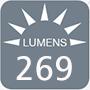 269 lumens