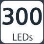 300 leds