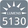 5130 lumens