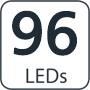 96 leds