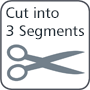 Cut into 3 Segments