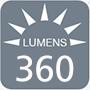 360 lumens