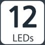 12 leds