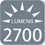 2700 lumens