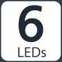 6 LEDs