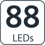 88 leds