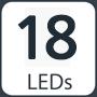 18 leds