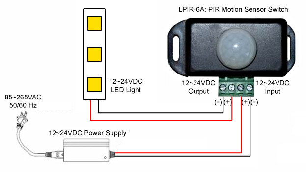 Motion Sensor Light Switch Wiring Diagram Small Pir