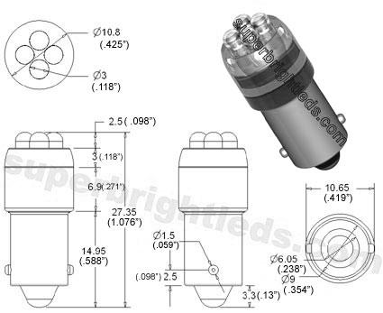 BA9s LED Bulb - 4 LED - BA9s Retrofit | BA9s & BA7s LED Bulbs ...