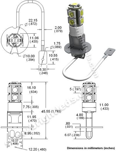 h3 led bulb