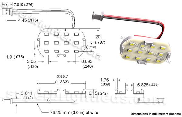 12 LED PCB Lamp