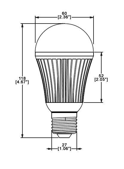 E27 Led Bulb 12w 12 Volt Dc Boat Yacht Light