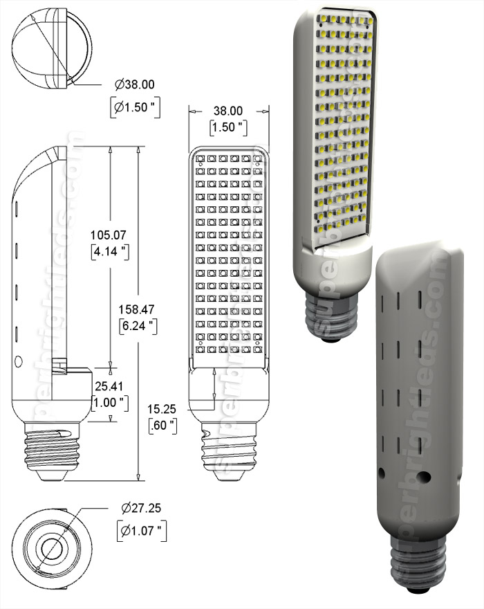 E27-xW96SMD-AIM Diagram