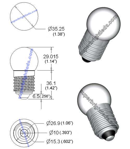 e27 led bulb  8 led