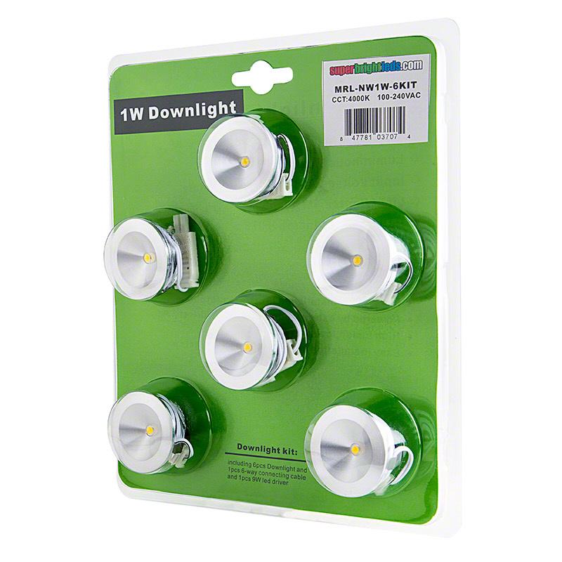 1 watt led downlight kit 6 piece recessed led lighting super 1 watt led downlight kit 6 piece