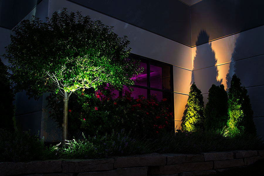Wattage For Landscape Lighting : Watt landscape led spotlight w mounting spike lumens spot lights